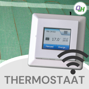 quickheat digitale wifi klokthermostaat bediening elektrische infrarood vloerverwarming