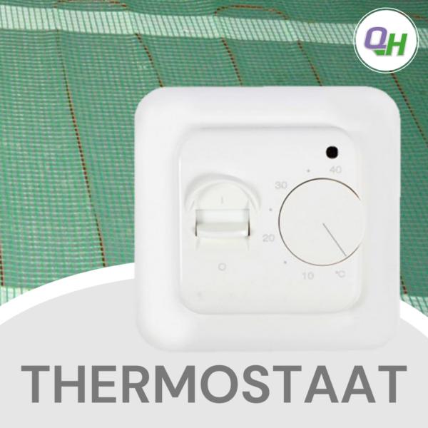 quickheat thermostaat met draaiknop