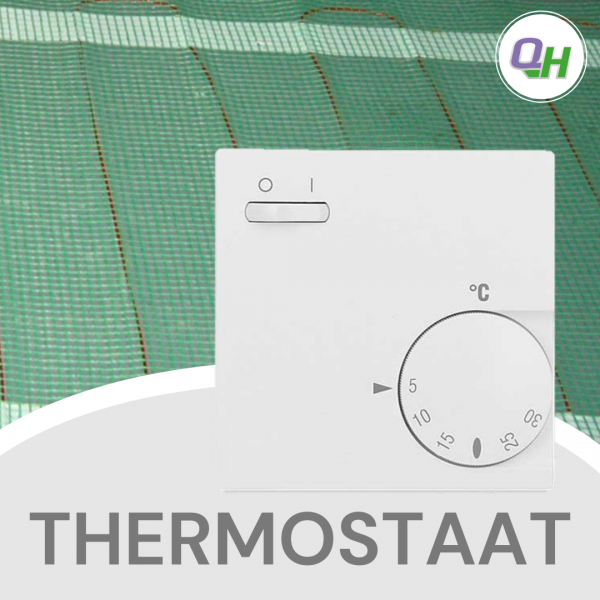 quickheat-floor vloerverwarming thermostaat met draaiknop