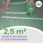 Quickheat-floor basic elektrische vloerverwarming 2,5 meter