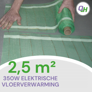 Quickheat-floor basic elektrische vloerverwarming 2,5 meter