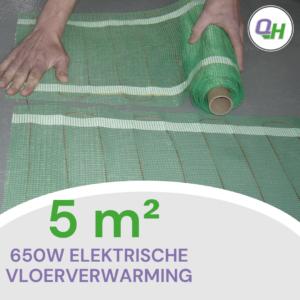 Quickheat-floor elektrische vloerverwarming 5m2 650W