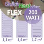 quickheat-floor elektrische vloerverwarming infrarood 200W