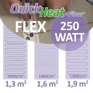 quickheat-floor elektrische vloerverwarming infrarood 250W