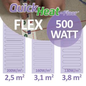 quickheat-floor elektrische vloerverwarming infrarood 500W