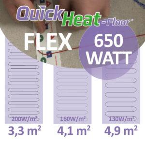 quickheat-floor elektrische vloerverwarming infrarood 650W