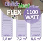 Quickheat-floor flex elektrische infrarood vloerverwarming doe het zelf pakket 1100W